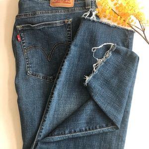 Levi's 18w wedgie skinny crop jean